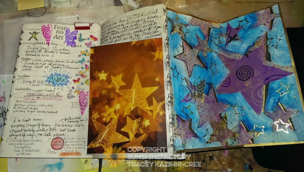 One of my favorite page spreads in my 2014 journal.