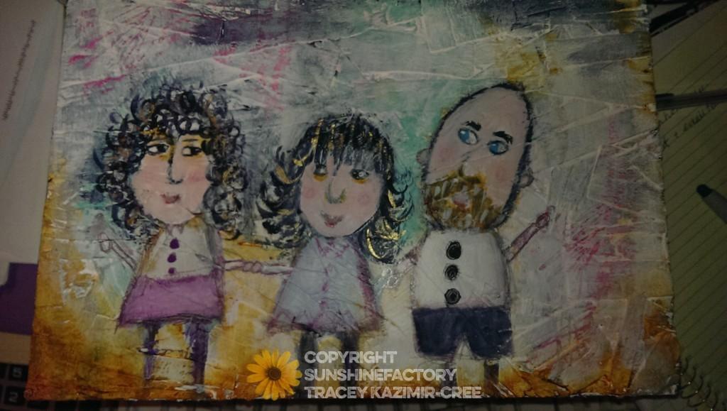 Cree primitive family portrait