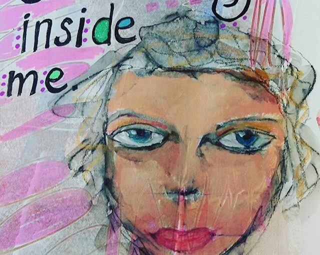More on the face from yesterday. #alittleeachday #artjournaling #practice #art