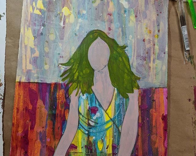 "#artandsoulretreat #wip ""Julia"" with Carol Spohn"