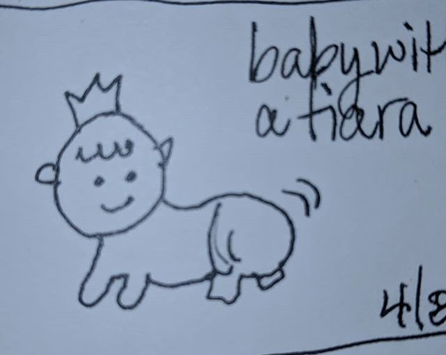 #the100dayproject  #traypup1TinyLittleDrawing  this baby is wiggling its little hiney!